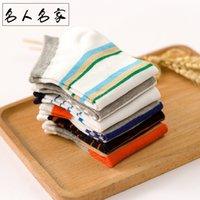 Independent packaging net red socks men's boat clothing Taobao shop spring and summer Stripe Men's short tube