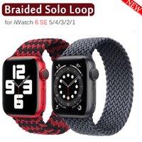 Geflochtener Solo-Schleife-Strap für Apple-Uhr-Band 40mm 44mm 42mm 38mm Stoff Nylon-elastisches Gürtel Armband für iWatch-Serie 5 4 3 6 SE