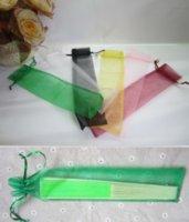 Bolsa de seda para los fanáticos de la mano bolsa de regalo de regalo de organza para los fanáticos de la mano con el cordón ZHL4072