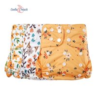 Coola melocotón / paquete bebé pañuelo de tela de bebé cubierta impermeable nappies bolsillo moda pañal de gota envío LJ201026
