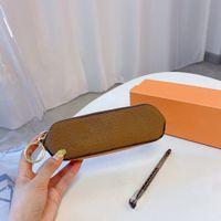 21ss Tasarımcı Kozmetik Çanta Kalem Çanta Moda Klasik Mektup Baskı Makyaj Fırça Saklama Çantası Yüksek Kaliteli kadın Kozmetik Çantaları