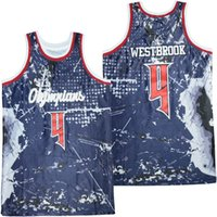Men's Olympians 4 Westbrook Basketball Jersey Stitched