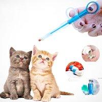 Pet Dog Cat Cachorrinho Pills Dispenser Kit de Alimentação Dado Medicina Controle Rods Home Universal Pet Medicina Alimentador HWF6224