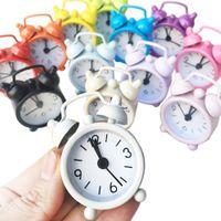 Мини-будильник Электронный круглый номер двойной колокольчик стол цифровая кварцевые часы украшения дома ретро портативный Adapdesk