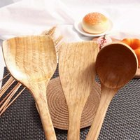 Spoons Long Wooden Cooking Rice Spatula Scoop Kitchen Utensil Non-stick Hand Wok Shovel