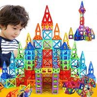 Kacuu 298pcs Mini Designer Magnetico Designer Set di costruzione Modello Building Toy FAI DA TE Blocchi magnetici Giocattoli educativi per bambini Q0723