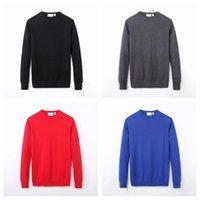 Lacoste Men 남성 악어 스웨터 자수 남성의 트위스트 바늘 니트 코튼 O-넥 스웨터 풀오버 스웨터 M3 높은 QualityC7WYGMGY