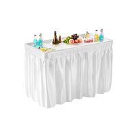 식탁보, 와인 쿨러, 과일 냉각기와 접는 파티 아이스 테이블