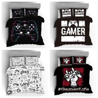 Bedding Sets 2021 2 3pcs 3d Digital Gamer Printing Set 1Quilt Cover + 1 2 Pillowcases US EU AU Size Twin Double Full Queen King