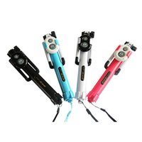 Foldable Selfie Monopods Bluetooth Tripod Monopod With Wireless Button Shutter For Samsung iPhone