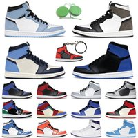 1s أحذية كرة السلة الرجال النساء jumpman 1 الرجعية الملكي الجامعة الأزرق الظلام mocha توربو أخضر تويست رجل مدرب