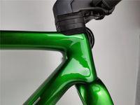 أخف 400C الكربون إطار الطريق الدراجة نظيفة التوجيه الخيوط BSA المحور 100 * 12 142 * 12mm دراجة إطارات