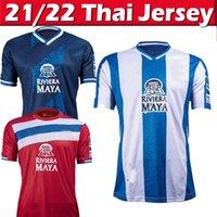21/22 RCD Espanyol R.D.T 축구 유니폼 2021 2022 Camisetas de Fútbol Embarba Javi Puado David Lopez 스페인 La Liga Jersey 남자 키트 축구 셔츠