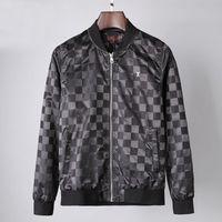 2021 Mens Jackets 남성용 겉옷 코트 Top Delived Smooth Soft Fabric Prints 및 자수 스티치 지퍼 럭셔리 셔츠 M-3XL