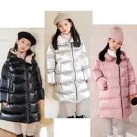 3 color Childrens down coat Baby Boys girls designer Winter Keep warm coats Kids hooded long types Outerwear kid Clothes