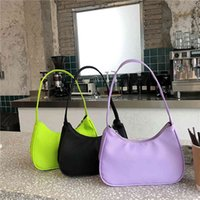 Candy Color Women Hobos Nylon Baguette Handbags Fashion Ladies Little Dead Shoulders Clutch Pure Bolso Mujer