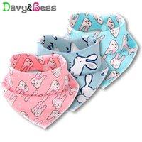 Bibs & Burp Cloths Davy&Bess Cotton Baby Waterproof Bandana Bib For Scarf Feeding Children's Cloth Apron Infant Drool Slab Boy Girl