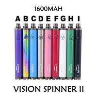Vizyon Spinner II Değişken Gerilim Pil 3.3 V-4.8 V EGO Piller Kiti Vizyon Spinner 2 1600mAh EGO Atomizer için
