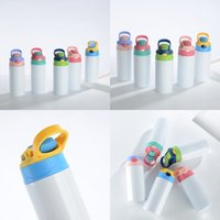 Sublimation Stainless Steel Blanks cups 12oz 350ml Children lnsulated Sippy water bottle Steel Sublimation Tumblers Tumbler Kid Mug