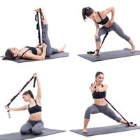Yoga Pull Stretch Strap Belt Elastic Latin Dance Stretching Band Pilates Gym Fitness Ejercicio Hamstring Resistencia Bandas