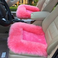 Car Seat Covers 1Pcs Fuzzy Plush Cushion Universal Long Wool Warm Cover Chair Pad Interior Accessories