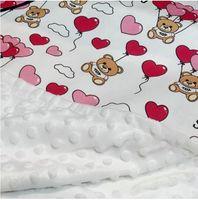طفل بطانية لحاف الوليد الحضانة القذرة الدب إلكتروني نمط طباعة الأطفال بطانيات مصمم طفل رضيع الفتيات التقميط
