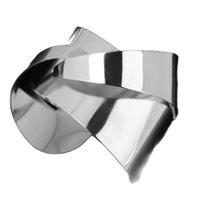 Bangle Unique Warp Surface Alloy Opened Cuff Bangles Bracelets For Women Fashion Statement Jewelry Bracelet