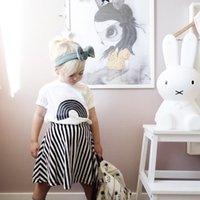 Grh Yeni Çocuklar Küçük Kız Erkek T-Shirt Tees Saf Pamuk Tops Mutlu Gökkuşağı Aşk Bebek Tasarımları Çocuk Giyim