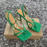 2021 Best Quality Ankle Strap Women Sandals Summer Fashion Brand Thin High Heels Gladiator Sandal Shoes Narrow Band Party Dress Pump Shoes