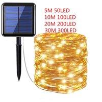 Solar Lamps 10M 20M 30M Light Outdoors Power LED String Fairy Lights Garlands Garden Christmas Decor For Sun Outdoor