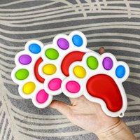 Square pata pé forma bolha poppers arco-íris board fidget brinquedos sensoriais empurrar pop popper puzzle dedo brinquedo stress relevo engraçado placa desktop jogo g4uprup