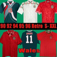 1990 1993 GALES GALES 1992 1994 1995 1996 Retro Futbol Forması Giggs Hughes Eve Saunders Rush Boden Hız Vintage Klasik Futbol Gömlek
