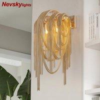 Lámpara de pared decorativa de plata de plata moderna para sala de estar con margen de oro dormitorio de aluminio cocina