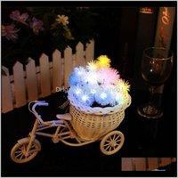 Andere gebeurtenis Feestelijke Feestartikelen Home GardenLid 30 LED's Solar Powered String Light Outdoor Christmas Garden Patio Lantern Decoration Lig