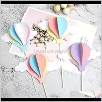 Festive Gardenmulticolored Balloon Cake Topper Decoration Baby Shower Birthday Party Wedding Hat Home Other Event & Supplies Drop Delivery 20