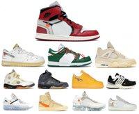2021 릴리스 정통 UNC 1 높은 OG OFF 파워 블루 화이트 시카고 레드 남성 여성 야외 신발 원래 상자와 스포츠 스니커즈