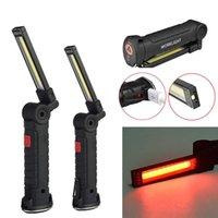 COB + LED Tragbare Taschenlampe USB-Taschenlampe Arbeitslicht Magnetische Wiederaufladbare Hängnaken im Freien Auto Auto-Reparatur-Notfalllampe