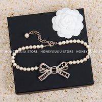 Gioielli di lusso Collana in cristallo di cristallo di perle di alta qualità per le donne Dolce 2021 Trends Goth Designer Catene logo classico