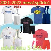 2021 Real Madrid Soccer Jersey Kids Kits avec chaussettes 20/21 T-shirt de football Asensio Modric Ramos Marcelo Bale ISCO Entrées enfants