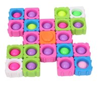 DIY Spinners One Single Spinner Bearing Push Pop Bubble Popper Building Block Sensory Finger Pops Jigsaw Puzzle Decompression Stress Relief Vent Toys G72U218
