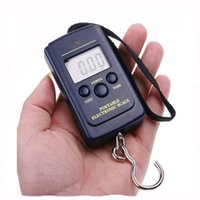 40kg 10g LED display Portable Mini Electronic Digital Scales Pocket Case For Kitchen Fishing shopping Luggage Travel Weighting Steelyard Hanging Hook