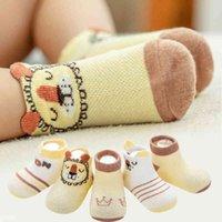 5 Paar Veel Baby Korte Katoenen Sokken Kid Kinderen Peuter Boy Girl Pasgeboren Baby Zomer Mesh Dunne Leuke Animal Print sok Sneaker A0512