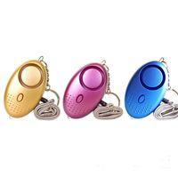 10 Cores 130dB Alarme pessoal com lanterna Menina Mulheres Segurança Proteger Alerta Self Segurança Scream Alarmes Chaveiros