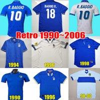 Retro Itália Itlay Camisa de futebol 1982 1990 1994 1996 1997 1998 BAGGIO R. BUFFON MALDINI VIERI ROSSI TOTTI NESTA ALBERTINI DEL PIERO camisa clássica de futebol vintage