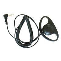 1 Pin 3.5mm Jack Fiş Dinle Dinle D Şekli Kulaklık Kulaklık Kulaklık Kulaklık Hoparlör Mic ICOM Yaesu Kenwood Motorola Taşınabilir Radyo Walkie Talkie