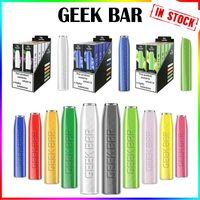 최고 품질의 긱 바 일회용 전자 담배 575 퍼프 vape 펜 2.4 ml 프리 쿼리 포드 카트리지 500mAh 배터리 스타터 키트 PK 에어 바 럭스 gunnpod