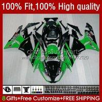 Kawasaki Ninja ZX 6R 6 R 636 600 CC 600CC ZX600C 13NO.6 ZX636 ZX6R 09 10 11 12 ZX-6R 2009 2010 2011 2012 ZX600 09-12 OEM 페어링 재고 녹색