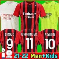 21 22 AC Mailand Fußball-Trikots Giroud Maignan Ibrahimovic Brahim Kessie Fußball-Hemd 2021 2022 Tonali Paqueta Bennacer Rebic Camiseta de Futbol Leo thai