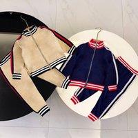 Kids Clothing Sets Boys Girls Tracksuits Suit Letters Print 2pcs Designer Jacket Pant Suits Chidlren Casual Sport Clothes 90-130 2 Styles Teen Tracksuit