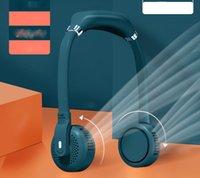 Manos portátiles Libre Lazy Fan Fan Gadgets USB Gadgets Recargable Personal 3 Velocidades del viento Silencios, collar sin sentido 2000mAh